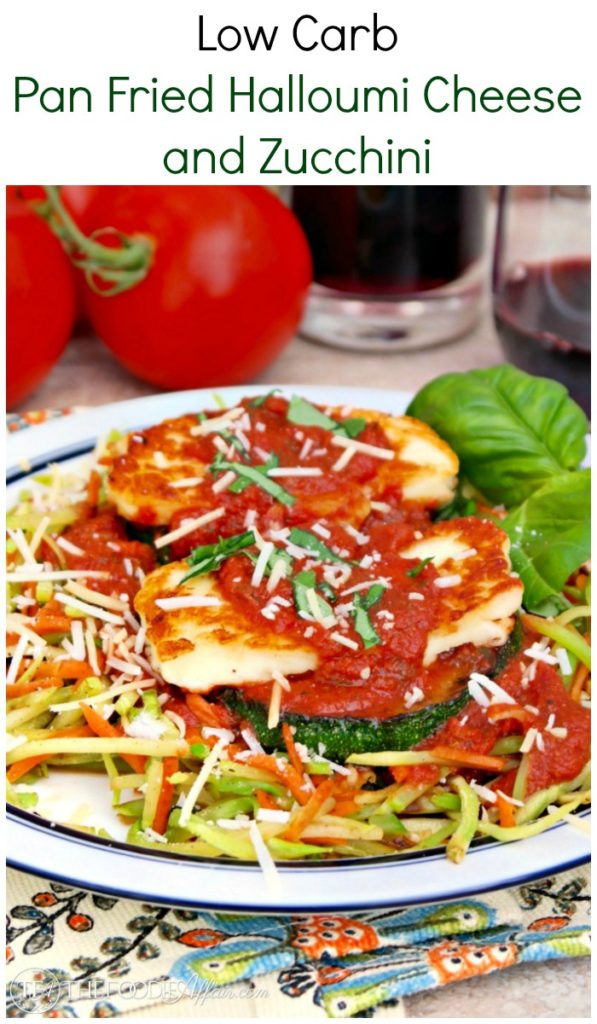 Pan Fried Halloumi Cheese and Zucchini over Veggie Slaw
