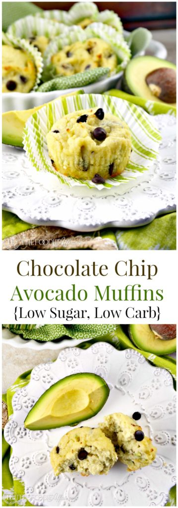 Avocado muffins with chocolate chips