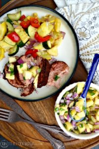 Cocoa spiced pork tenderloin with pineapple salsa