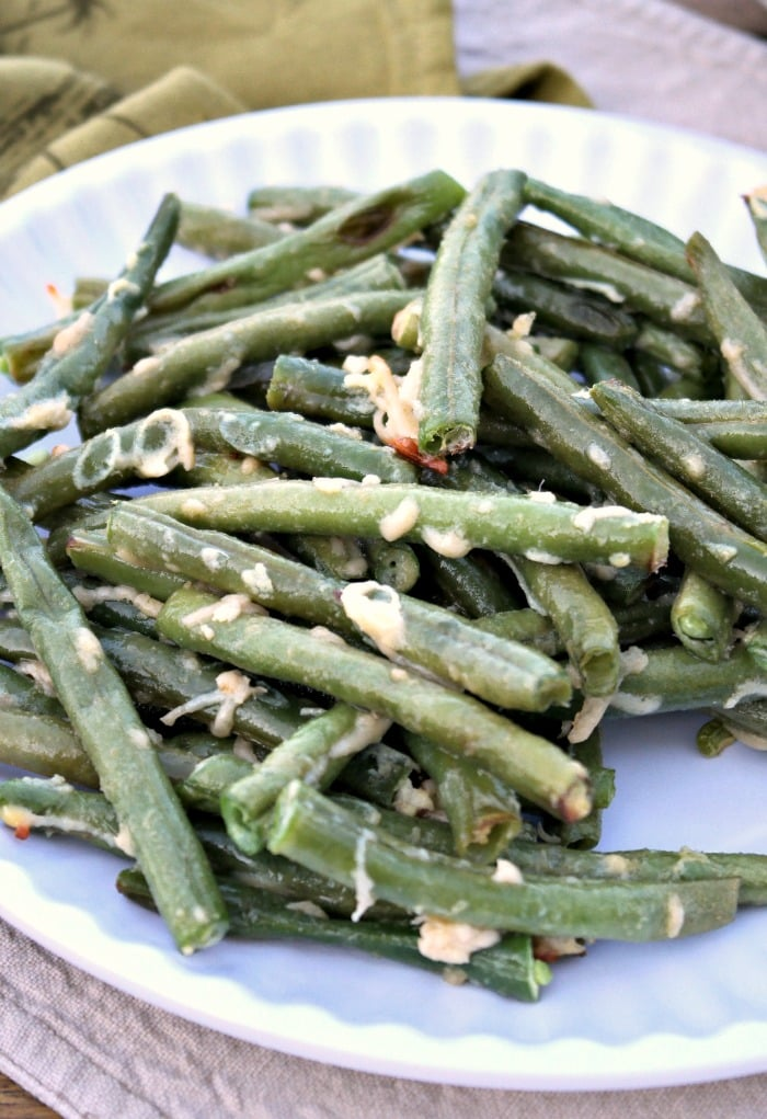 Parmesan Roasted Green Beans with Garlic