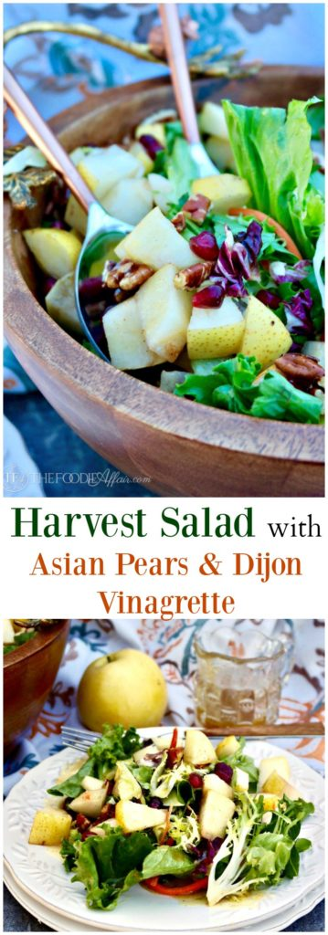 Harvest salad with Asian pears and dijon vinaigrette