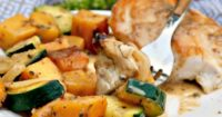 Chicken and Butternut Squash with Coconut Cream Sauce!