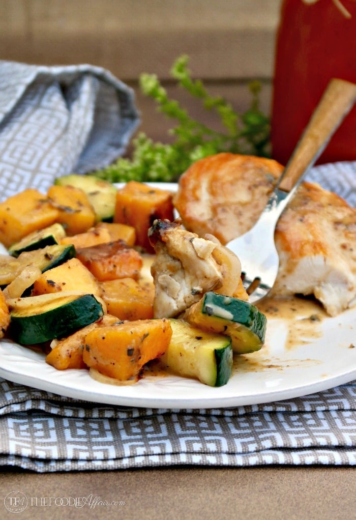 Chicken and Butternut Squash with Coconut Cream Sauce