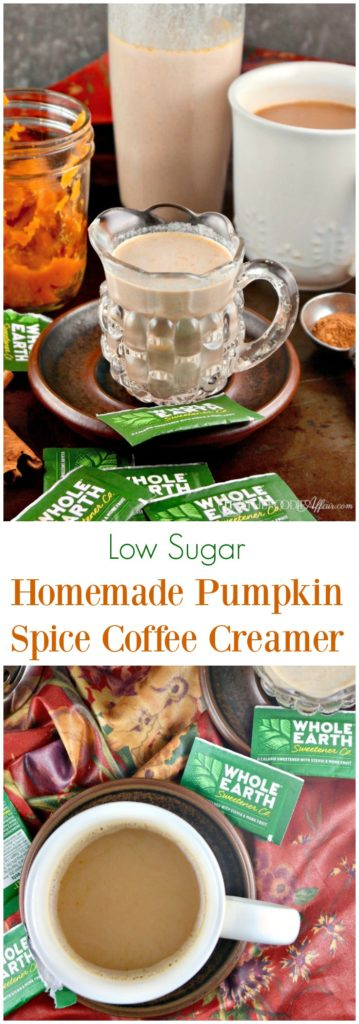 Low sugar homemade pumpkin spice coffee creamer #pumpkin #coffee #creamer #ad   thefoodieaffair.com
