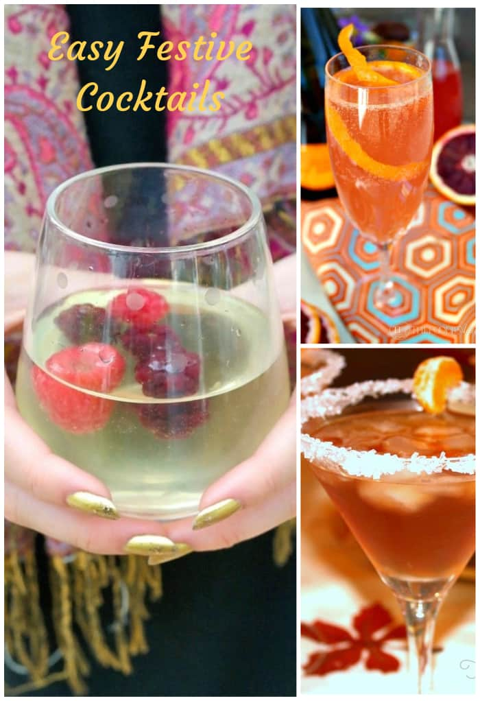 Give these easy festive cocktail recipes a try when planning your next gathering! These drinks are easy to make, so you can enjoy time with your guests too! #cocktail #drink #partyplan #easy #thefoodieaffair.com