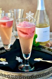 Italian Raspberry Prosecco Cocktail (Sgroppino)! A classic with a twist using raspberry instead of lemon sorbet! #Italian #cocktail #prosecco #Sgroppino | www.thefoodieaffair.com