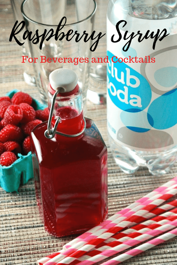 Homemade raspberry syrup for drinks! Enjoy with sparkling water or use in cocktails! #diy #syrup #raspberry #drinks