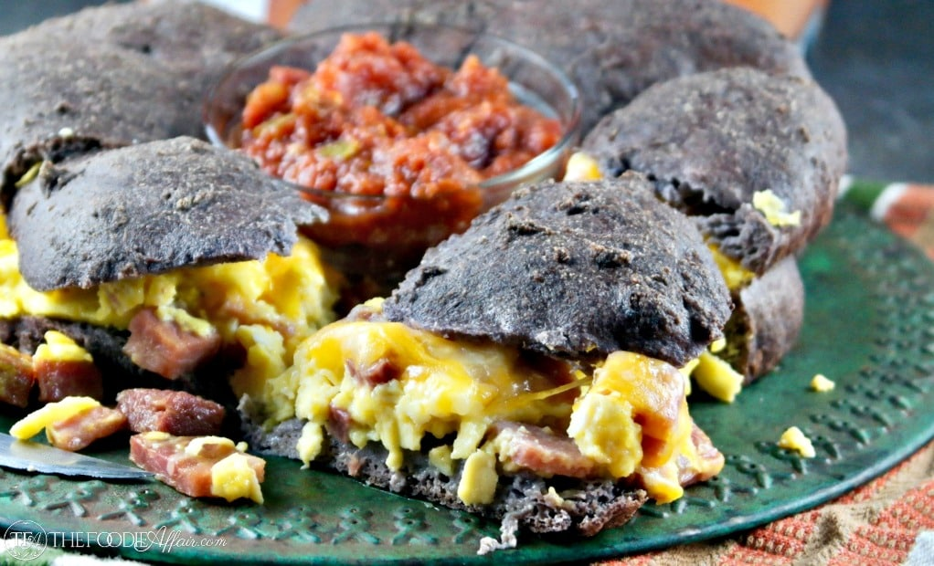 Low Carb Breakfast Sandwich to feed a crowd or wrap up and freeze for a grab and go meal #breakfast #sandwich #lowcarb #keto | www.thefoodieaffair.com