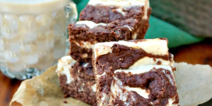 Irish Cream Cheesecake Brownies {Lower Carb & Lower Sugar}