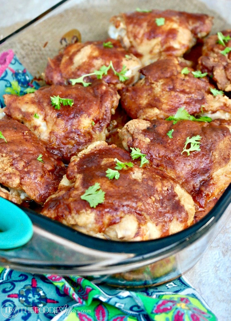 Delicious Honey Mustard Chicken Thighs – Pan Fried and Baked