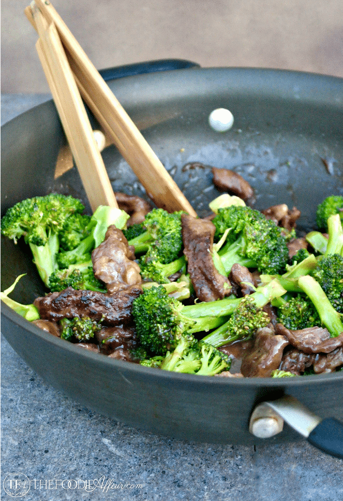 Easy Orange Beef and Broccoli Stir Fry {Ready in under 30 minutes}