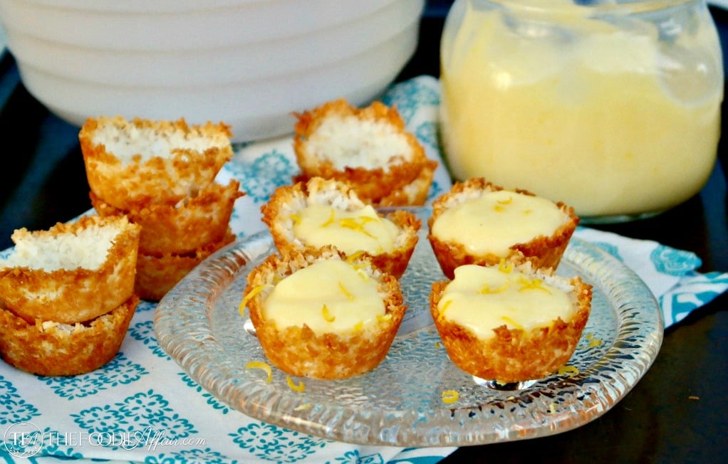 Low Carb Lemon Tartlets are the perfect bite size treats for any occasion