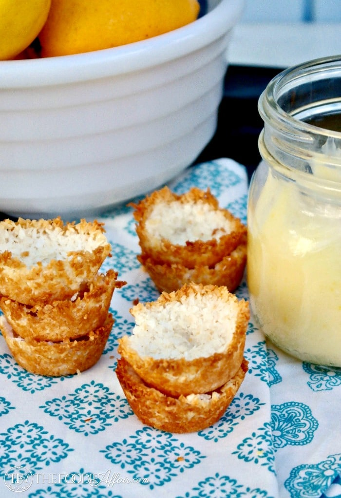 Low Carb Lemon Tartlets with a sugar free coconut shell