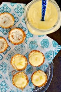 Low Carb Lemon Tartlets with a zesty and sweet filling