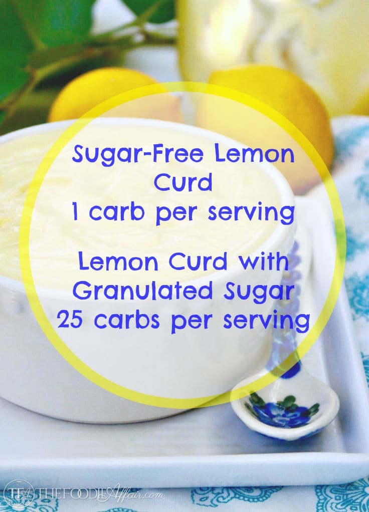 Sugar Free Lemon Curd with only 1 carb per serving! #keto #lowcarb #curd #sugarfree | www.thefoodieaffair.com