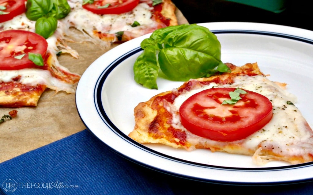 Low Carb Pizza Dough Recipe vegetarian style #keto #cheese | www.thefoodieaffair.com