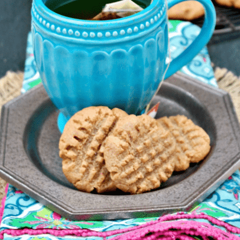 These sugar free peanut butter cookies made with just four ingredients! #sugarfree #lowcarb   www.thefoodieaffair.com