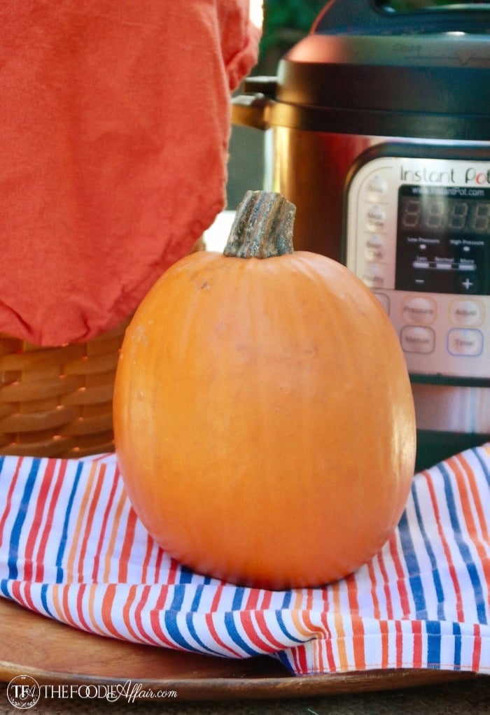 Whole pumpkin for pressure cooker pumpkin puree