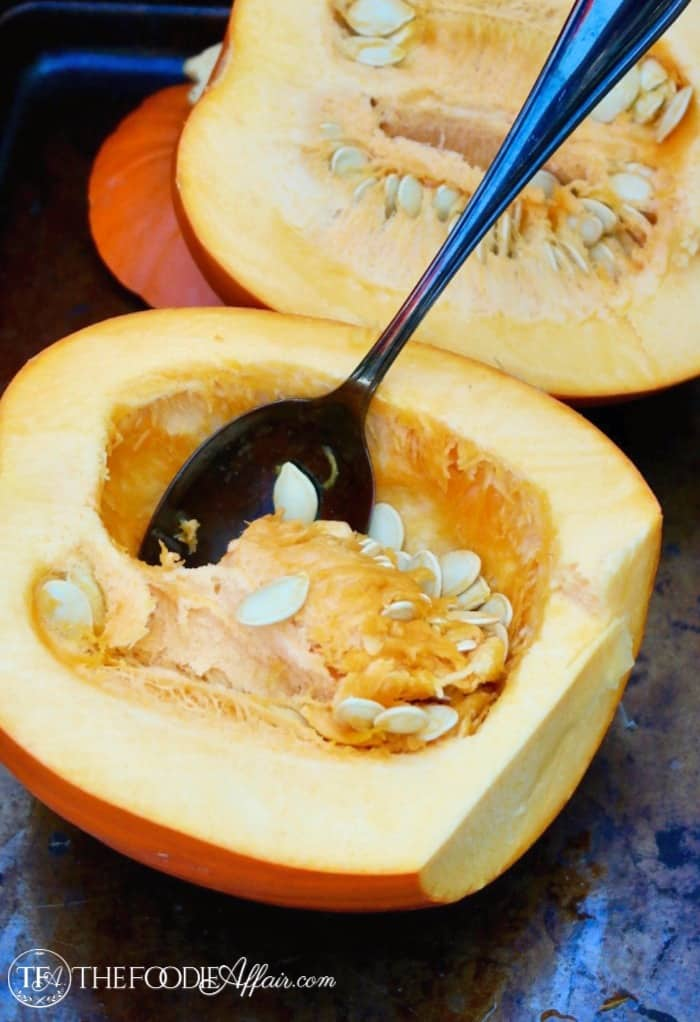 sliced pumpkin for pumpkin puree