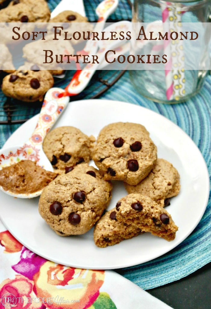Soft Almond Butter Cookies made without sugar or flour. Enjoy this soft healthy treat anytime! #cookies #healthyfood #recipes | www.thefoodieaffair.com