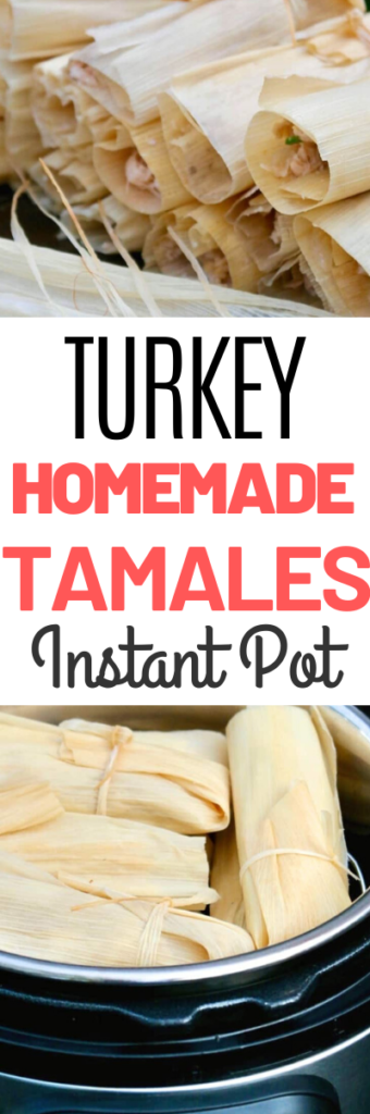 Homemade tamales may seem daunting to make, but this tamales recipe will give you easy step by step instructions with ingredients found at most stores. Check out the easy cooking tips on how to steam these quick! #tamales #homemade #christmasrecipe #Mexican #dinner #tradition #turkey #instantpot #pressurecooker