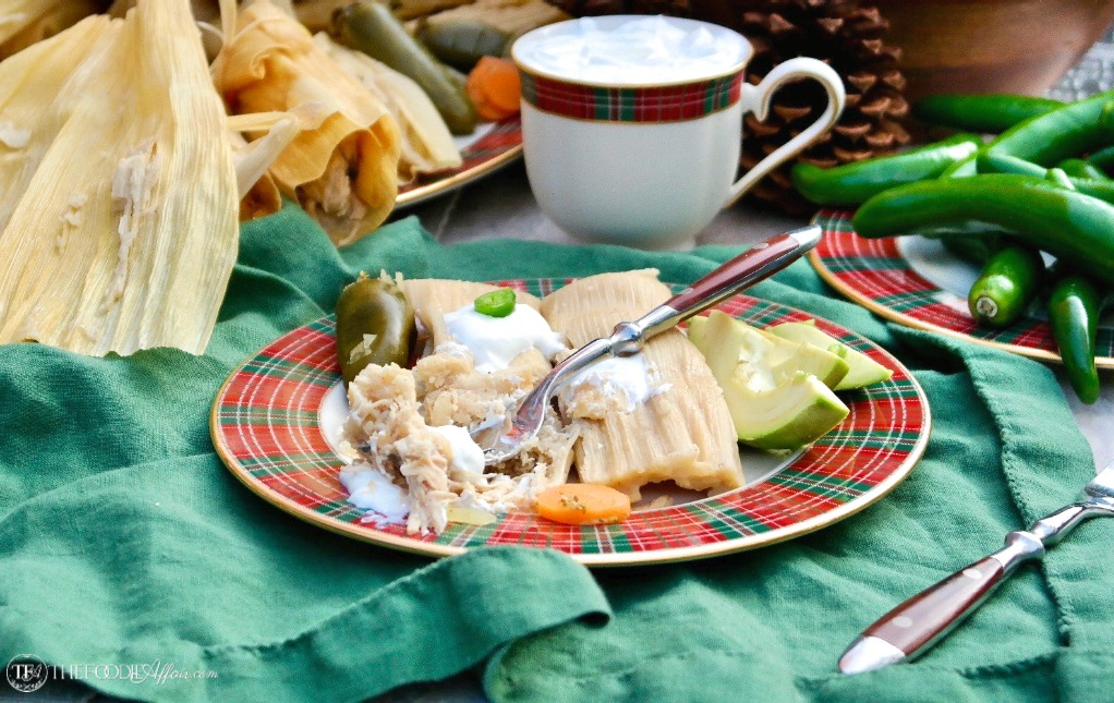 Cooked homemade tamales with turkey meat #tamales #recipe #homemade | www.thefoodieaffair.com