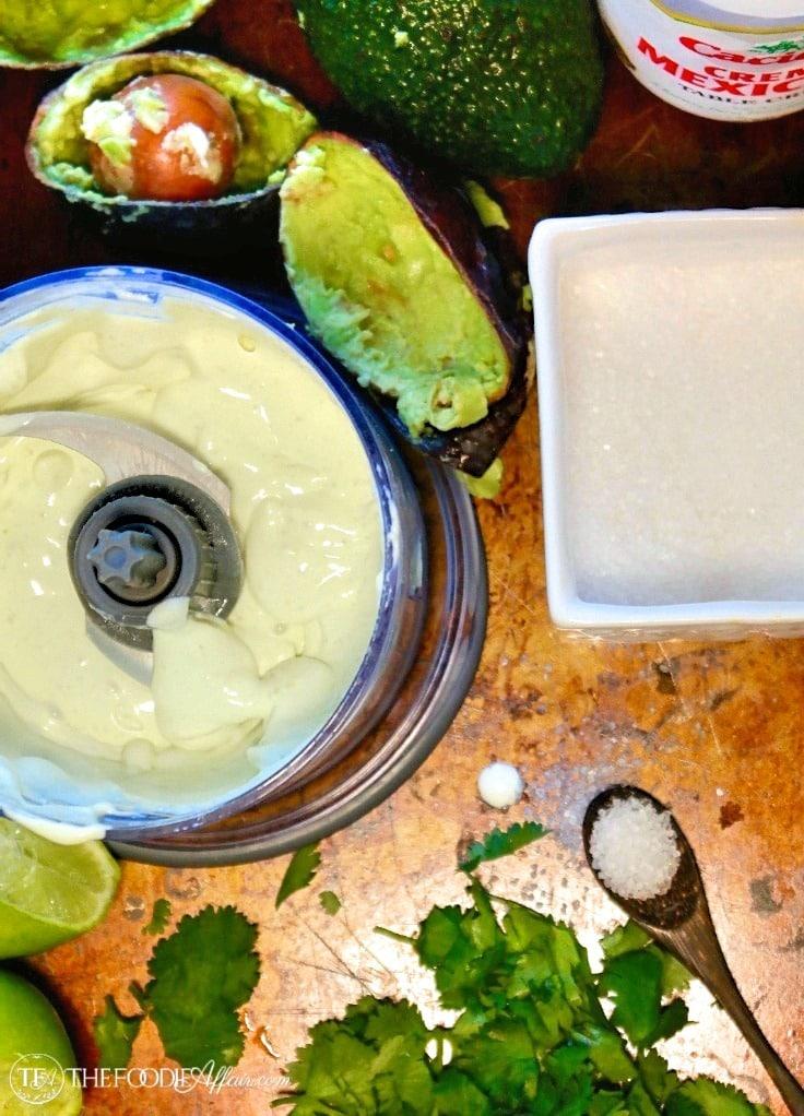 Avocado Cream Sauce photograph