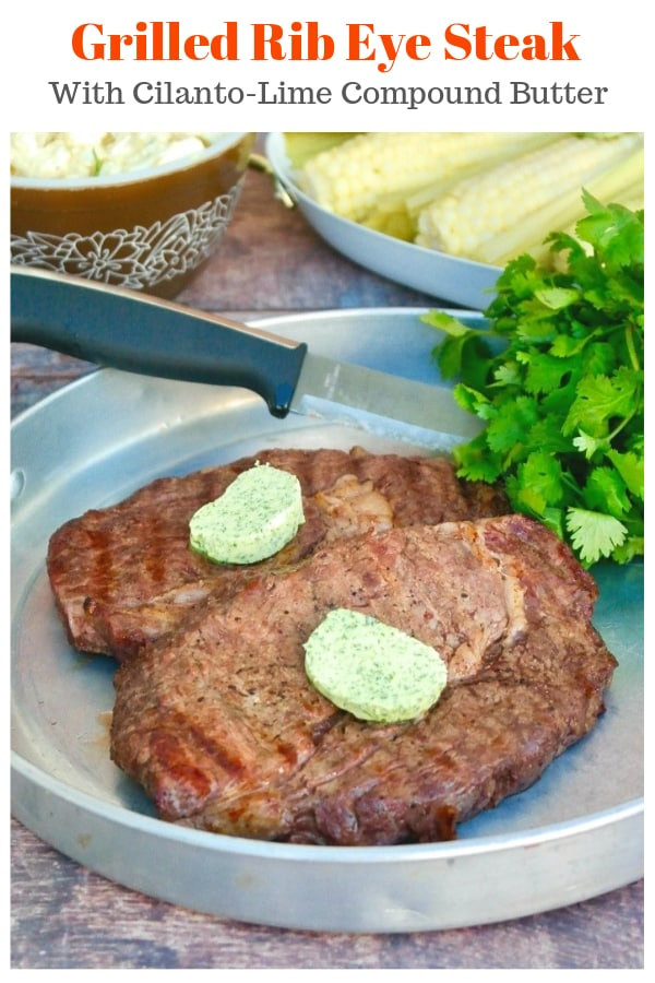 Break out the grill and start the summer with some delicious rib eye steaks! Season with salt and pepper and serve with a cilantro-lime compound butter! @StraussDirect @thekitchn #UltimateSummerGrillBox #StraussDirect #ad #ribeye #grill #steak