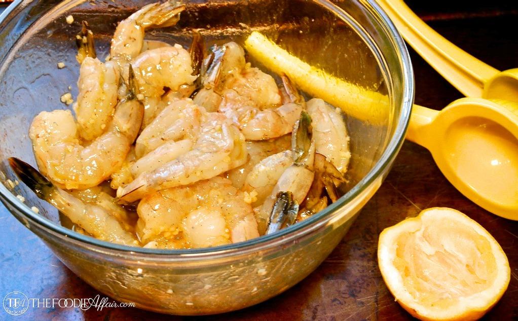 shrimp in marinade