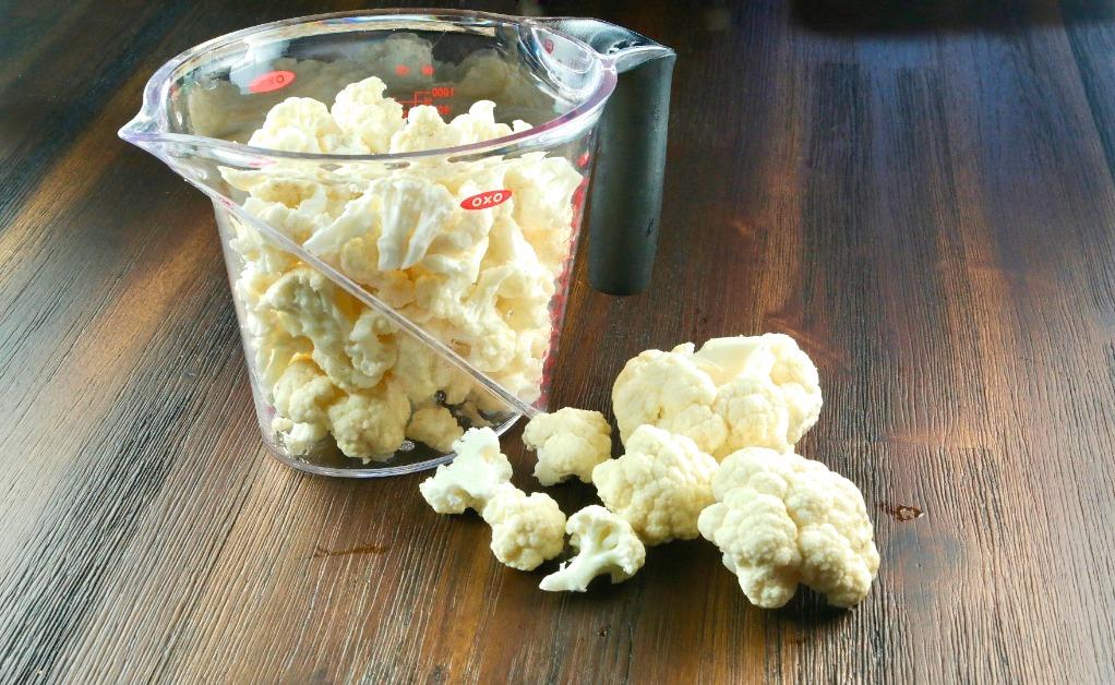 Cauliflower florets for low carb potato salad