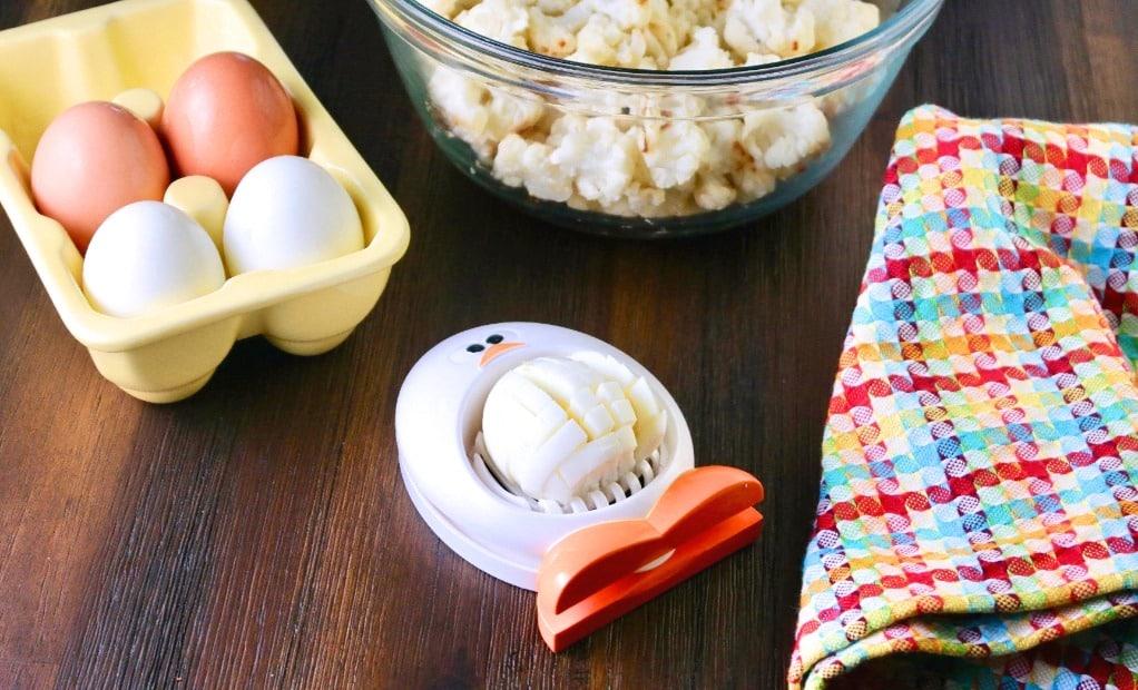Ingredients for low carb potato salad