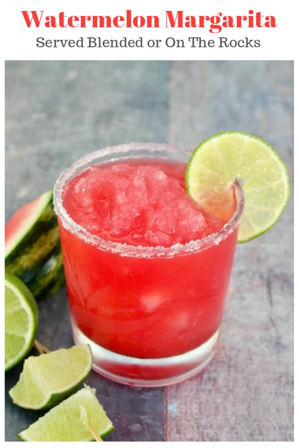 Cool down with a watermelon rita cocktail! Serve this delicious watermelon margarita on the rocks or freeze the watermelon chunks and blend it up! #margarita #watermelon #cocktail #summerdrinks #BBQ | www.thefoodieaffair.com