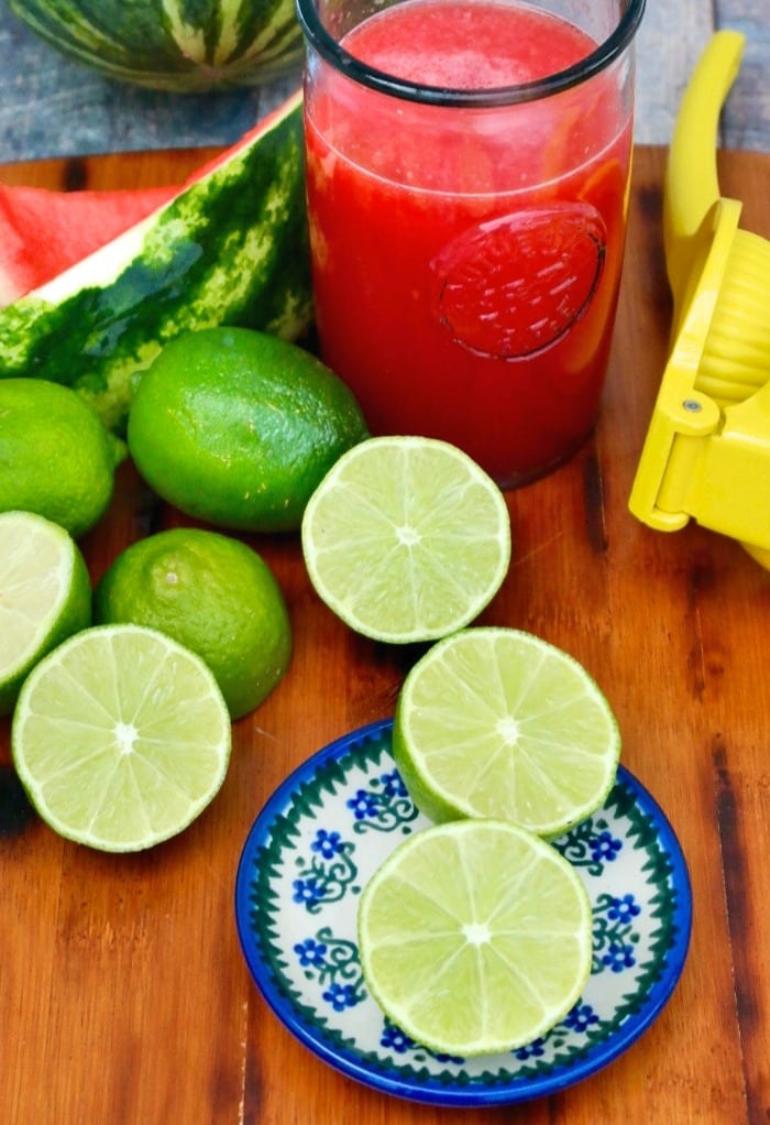 fresh lime juice for watermelon rita cocktail