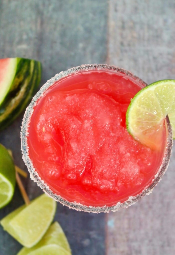 watermelon rita blended with lime