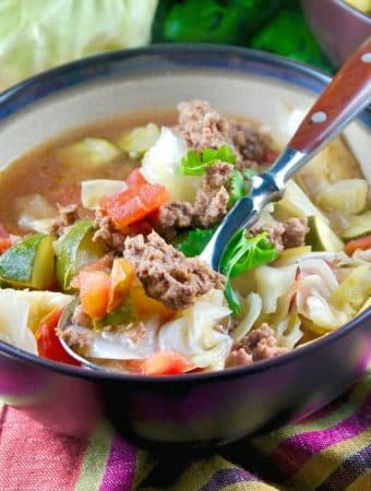 Mexican Beef Cabbage Soup | Low Carb Easy Recipe