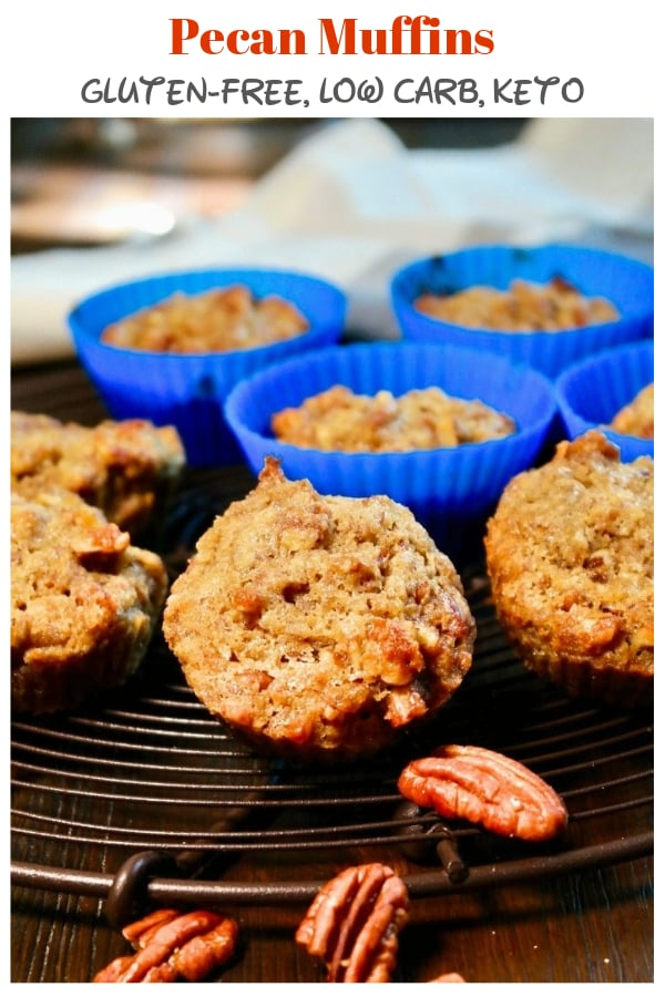 These low carb pecan muffins are gluten-free and keto approved! Grab one and satisfy your sweet tooth guilt free! #lowcarb #muffins #pecan #sugarfree #ketorecipes   www.thefoodieaffair.com