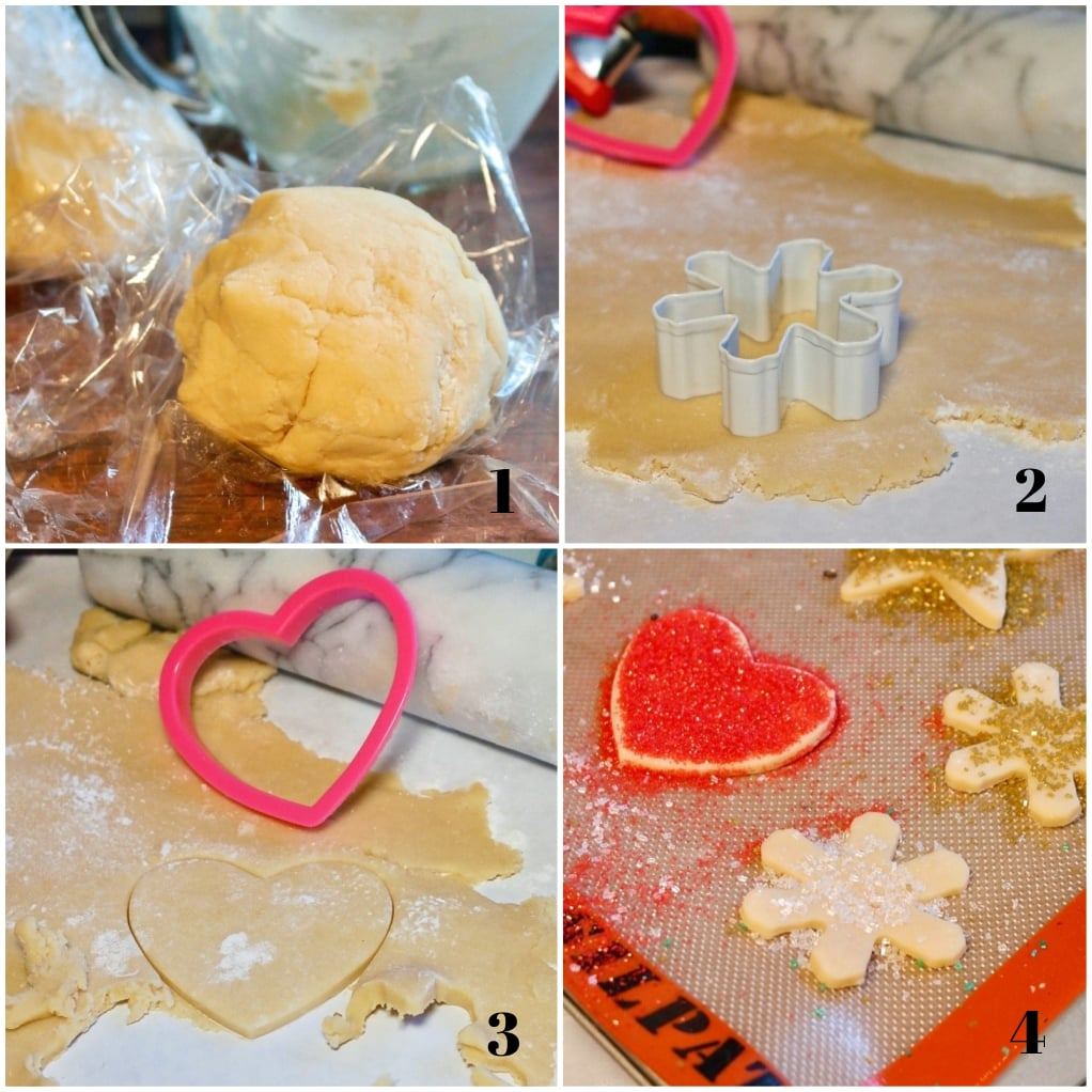 Step by Step images on how to bake cut out cookies