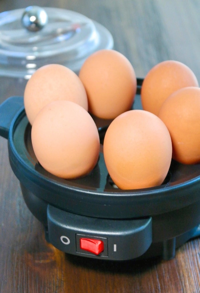 fresh eggs in a cooker for hard boiled eggs