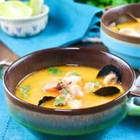 Thai Coconut Soup With Seafood