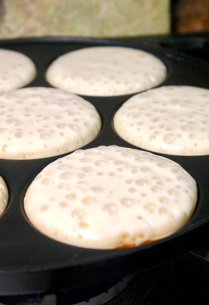 cooking silver dollar size pancakes