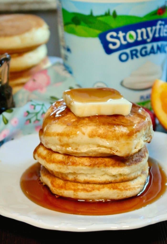 Fluffy Pancakes - Silver Dollar Size Yogurt Pancakes