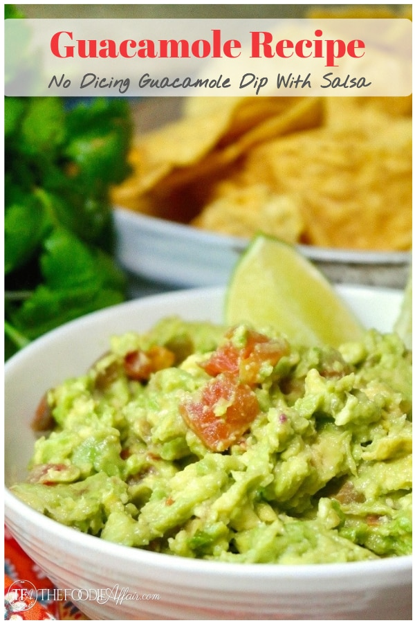Looking for a quick guacamole recipe that's ready in 5 minutes?  No chopping or dicing tomatoes with this easy recipe! Serve as a dip or use as a condiment! #salsa #guacamole #easyrecipe #avocado #lowcarb