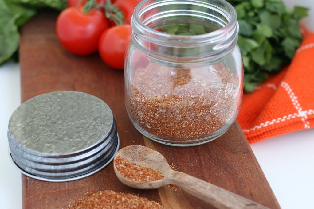 Homemade Taco Seasoning Recipe perfect for chicken tacos