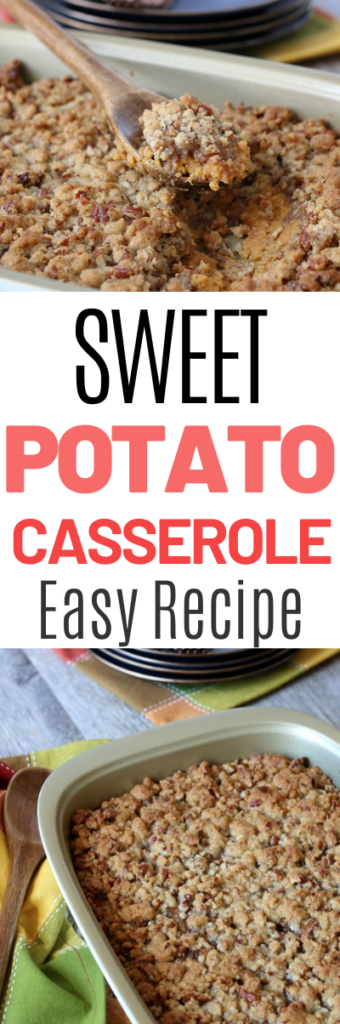 This family favorite sweet potato casserole is on our holiday table every year!  Lightly sweetened and can be adjusted to be sugar free!  #casserole #sweetpotato #sidedish #healthyrecipe #lowsugar