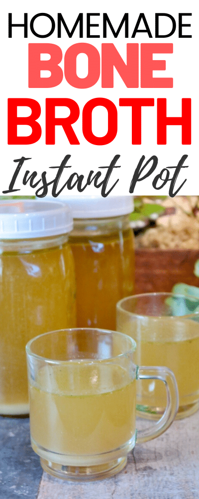 Delicious bone broth for all your recipes made in an Instant Pot. #broth #bonebroth #chicken #turkey #nutritious #homemade #pressurecooker