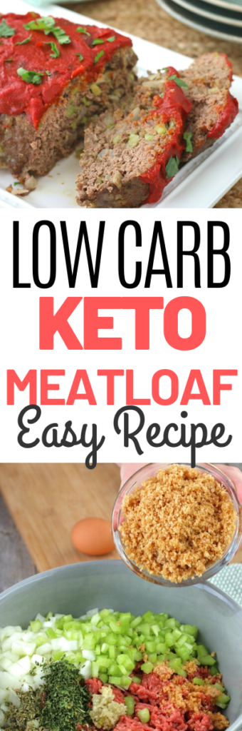 Delicious meatloaf without high carb filler. This recipe is easy to make and sure to be a family favorite meal! #keto #lowccarb #meatloaf #easydinner #thefoodieaffair