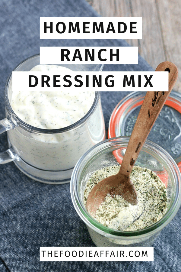 Homemade ranch dressing mix without preservatives! See what ranch seasoning packets are made of so you can make your own ranch dressing! #dressing #diy #ranch #condiment #spiceblend