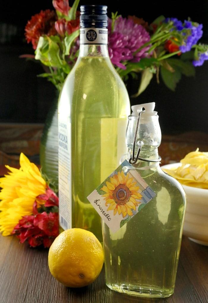 DIY limoncello recipe in glass jars
