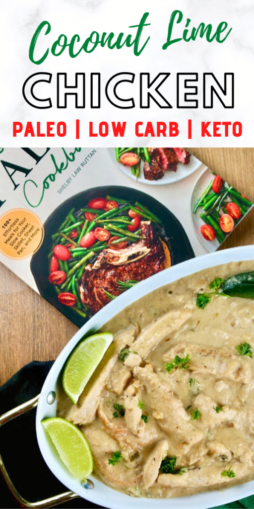 Put the lime in the coconut and mix it all up with this delicious chicken with coconut dish. Wow your tastebuds with a 30 minute meal the whole family will enjoy. #ketodiet #dinneridea #easyrecipe