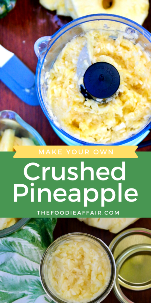 Fresh pineapple can be used for a variety of sweet and savory dishes. Crush you own instead of purchasing cans. Economical and doesn't get any fresher! #diy #easyhacks